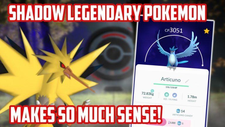 Why Shadow Legendary Pokemon Makes Sense In Pokemon Go!