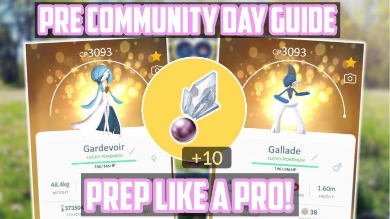 Gardevoir/Gallade Pre Community Day Guide For Pokemon Go!