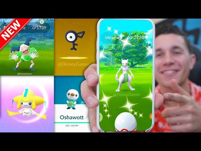 * SHINY MEWTWO * FINALLY in Pokémon GO + GENERATION 5 & MORE! (Ultra Bonus Unlock)