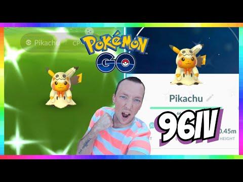 96iv SHINY MIMIKYU PIKACHU CAUGHT in Pokemon Go! 2019 Halloween Event Pokemon Go