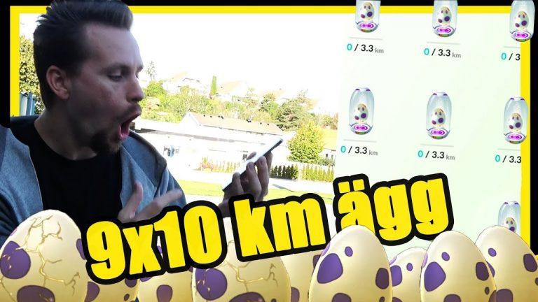Kläcker 9 X 10 KM ÄGG i Pokemon GO
