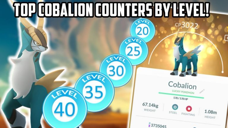 Top Cobalion Counters By Level In Pokemon Go!