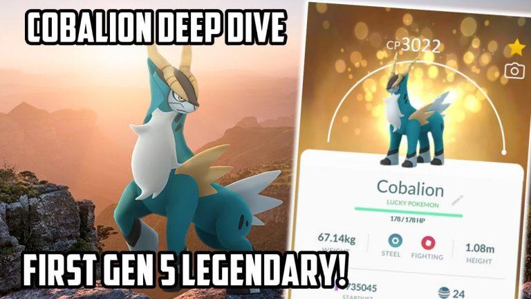 Cobalion Deep Dive In Pokemon Go! NEW Gen 5 Legendary Pokemon