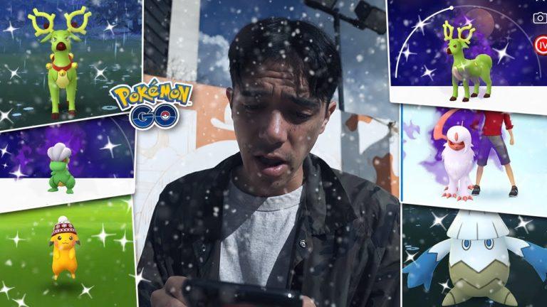 SIX NEW SHINY POKÉMON! (Pokémon GO Holiday Event)