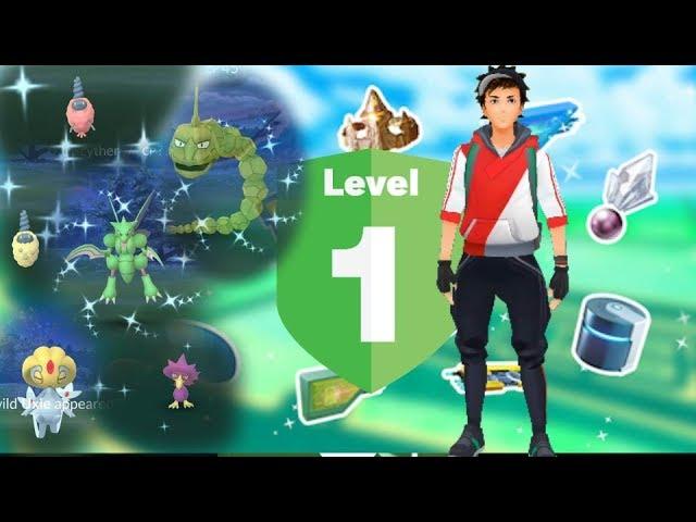 Pokemon go level 1 starter shiny sinnoh pokemon + new shiny burmy released