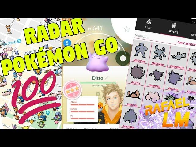Novo aplicativo Radar Para Pokémon Go Como Pegar Coordenadas de Pokémons 100 iV
