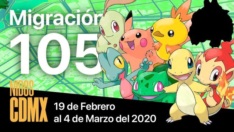 Migración nidos Pokemon Go en CDMX #105 | 19 de Febrero al 4 de Marzo del 2020