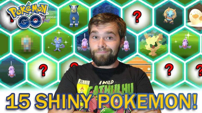 THIS WAS CRAZY! 15 SHINY POKEMON CAUGHT! (Pokemon GO Buddy Up Event)