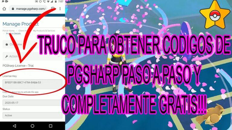TRUCO PARA OBTENER CÓDIGOS DE PGSHARP TOTALMENTE GRATIS | PASO A PASO | POKEMON GO 2020