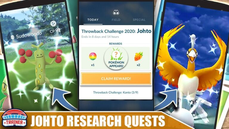 INCOMING! FULL *JOHTO RESEARCH* QUEST LINE – SHINY HO-OH, SUDOWOODO + MORE POTENTIALS   Pokémon GO