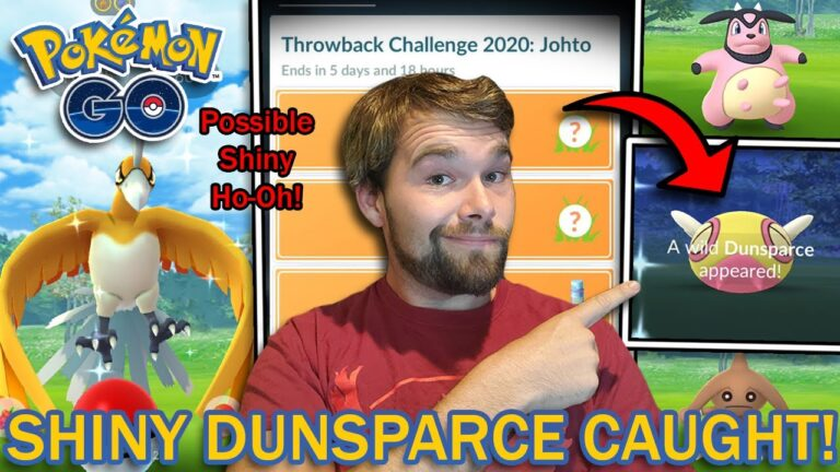 SHINY DUNSPARCE CAUGHT! JOHTO THROWBACK CHALLENGE 2020 COMPLETED! (Pokemon GO)