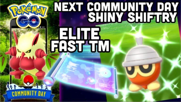 Next Community Day Shiny Shiftry in Pokemon GO | Bullet Seed move & Elite fast TM box