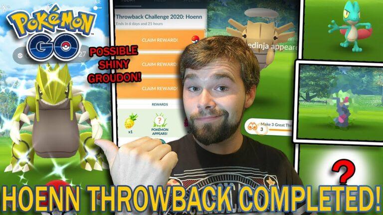 HOENN THROWBACK CHALLENGE 2020 COMPLETED! 3 SHINY POKEMON! (Pokemon GO)