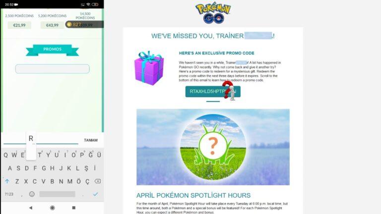 Pokemon Go Promo Code 2020 May 15