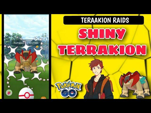 SHINY TERRAKION IN POKEMON GO || shiny terrakion raid battle in pokemon go 2020 || shiny remot raid
