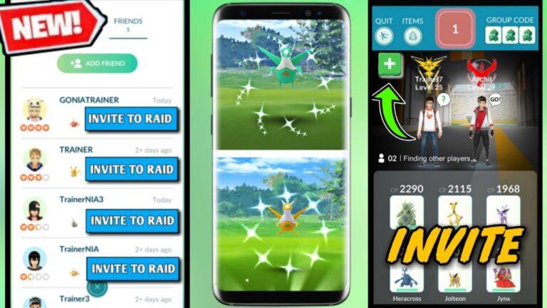 How to invite friends in raids pokemon go   new updates in pokemon go 2020   shiny latias & latios.