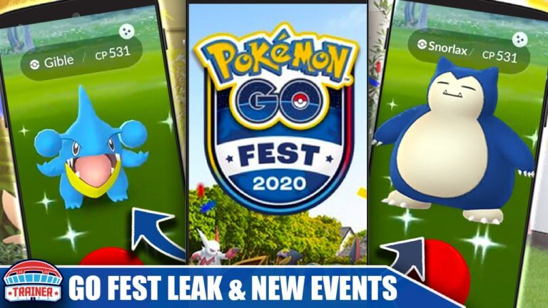 *SHINY SNORLAX & GIBLE* AT GO FEST 2020?! LEAKED GRAPHIC & JUNE SHINY EVENTS | Pokémon GO