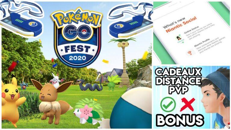 Pokémon Go Fest 2020 – Niantic Social – Bonus & Ajout de niveaux