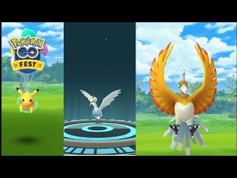1st week challenge in Go fest 2020. Flying Pikachu, Swanna new shiny spawn.
