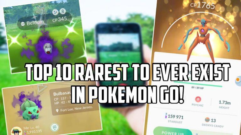 Top 10 Current Rarest Pokemon in Pokemon Go!