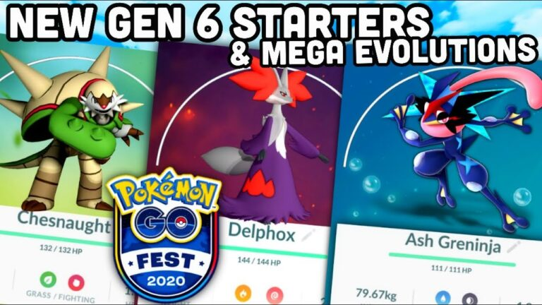 NEW GEN 6 Starters & Mega Evolutions in 4th Anniversary Poster  Pokemon GO | The Hype is real!