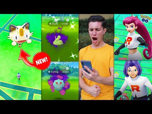 BATTLING JESSIE AND JAMES in Pokémon GO + NEW SHINY POKÉMON & A NEW EVENT!