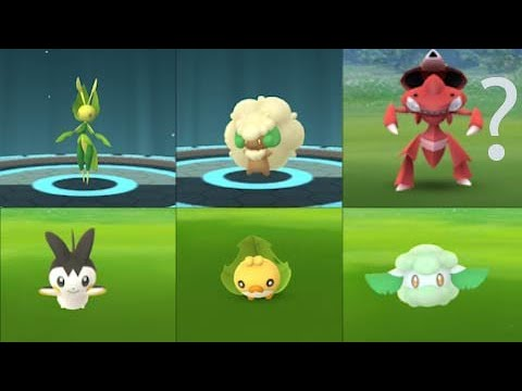 Unova week new pokemon Cottonee, Sewaddle & Emolga. Shiny Genesect debut on this event.