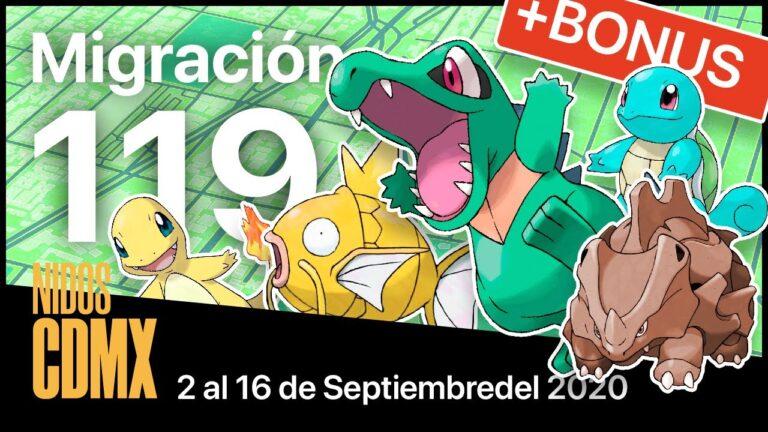 Migración nidos Pokemon Go en CDMX #119   2 al 16 de Septiembre del 2020   Funcionando actualmente