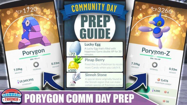 PREP NOW! TOP TIPS FOR SHINY *PORYGON* COMMUNITY DAY PREP – 3X CATCH XP   Pokémon GO