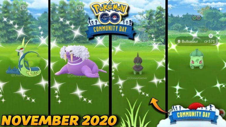 November community day in Pokemon go 2020 | Next community day in 2020 | Shiny deino community day ?