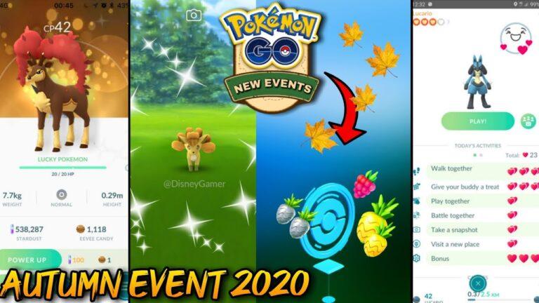 New autumn event in pokemon go 2020 | New gen 5 pokemons in pokemon go | shiny vulpix & ninetales.