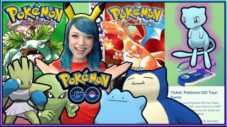 GET SHINY MEW! PICKING RED OR GREEN VERSION FOR THE KANTO TOUR EVENT IN POKÉMON GO!