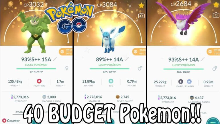 Top 40 BUDGET Pokemon To Power Up In Pokémon GO! (2020)   Which Pokemon Are Worth Powering Up?!