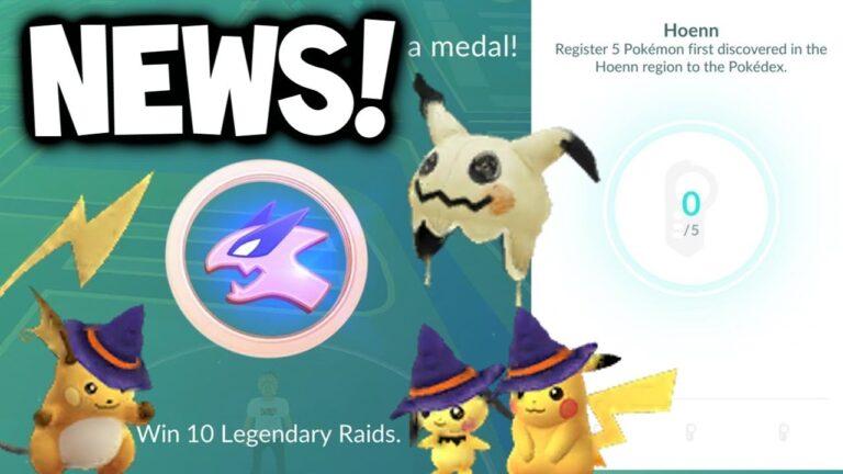 POKEMON GO NEWS – GEN 3 POKEMON & LEGENDARY MEDALS ADDED + 2 NEW FEATURES! (Pokémon GO Update News)