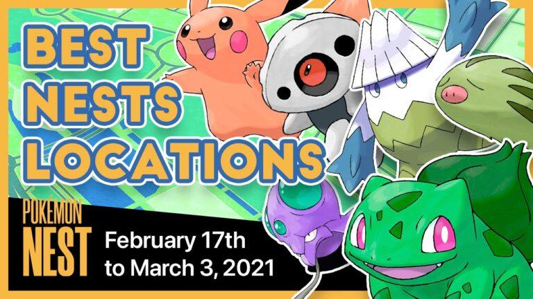 Mejores nidos mundiales   Migración nidos Pokemon Go #131   17 de Febrero al 3 de Marzo del 2021