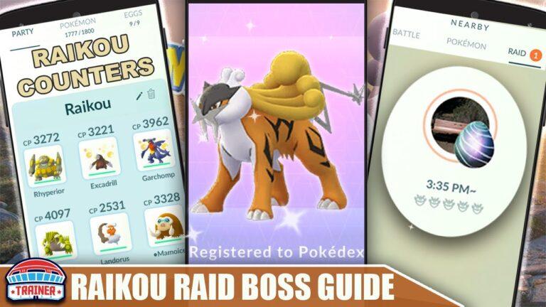 THE SHINY *RAIKOU* COUNTER GUIDE! 100 IVs, MOVESET & WEAKNESS – ELECTRIC RAID BOSS | Pokémon Go