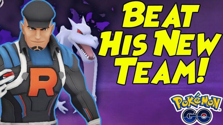 How to Beat Team Rocket CLIFF New Aerodactyl Team in Pokemon GO