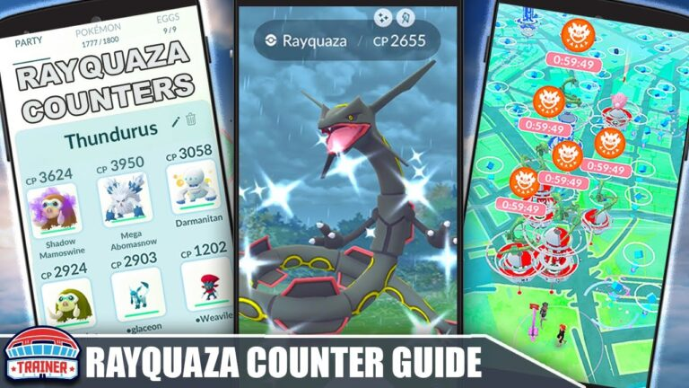 SHINY RAYQUAZA TIPS & COUNTER GUIDE – RAID WEEKEND! 100 IVs, MOVESET & WEAKNESSES | Pokémon GO