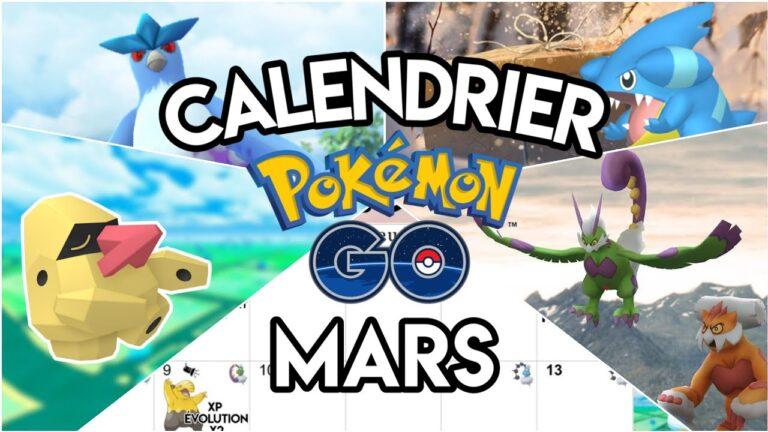 Calendrier Pokémon Go de Mars – Community Day – Heure Bonus – Événements & Shiny – Giovanni