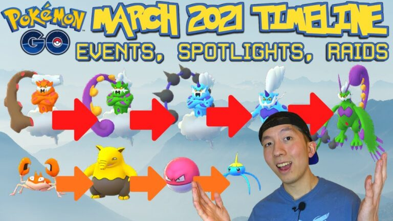 MARCH 2021 Pokémon GO TIMELINE OF EVENTS, UPDATES, SPOTLIGHTS, BREAKTHROUGH *WHAT TO EXPECT*