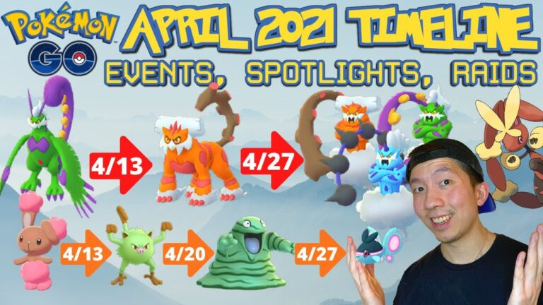APRIL 2021 Pokémon GO TIMELINE OF EVENTS, UPDATES, SPOTLIGHTS, BREAKTHROUGH *WHAT TO EXPECT*