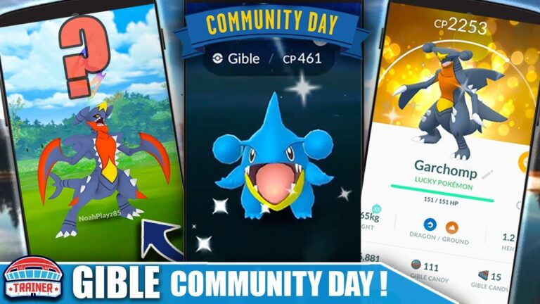 *GIBLE COMMUNITY DAY* CONFIRMED!! DATES, PROJECTED MOVES & MEGA?! | Pokémon GO