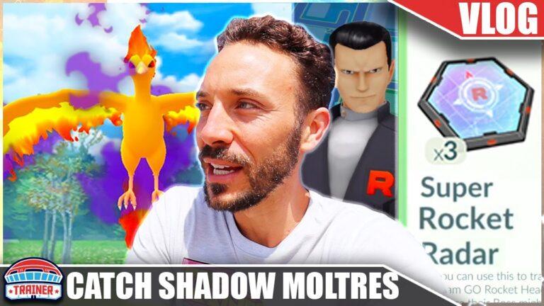 SHOULD YOU CATCH *SHADOW MOLTRES* ?! – STACK SUPER ROCKET RADARS – GIOVANNI   Pokémon GO Vlog