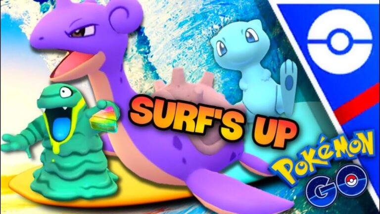 XL Alolan Grimer taking over GO Battle League in Pokemon GO // Shiny Mew & Lapras Surf's Up dude