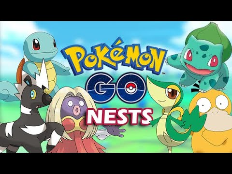 POKEMON GO NESTS [SQUIRTLE SNIVY BLIZTLE BULBASAUR PSYDUCK CHINCHOU & MORE] DraculVlad