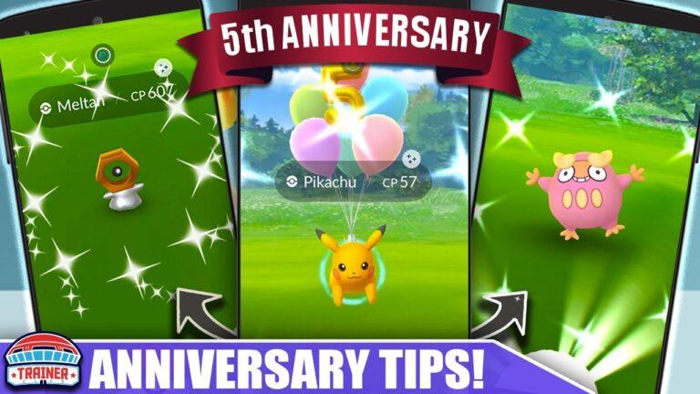 PLAY HARD! 5th ANNIVERSARY EVENT TOP TIPS! SHINY STARTERS, LURE MODULES, DARUMAKA   Pokémon GO