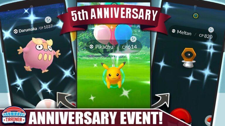 SHINY TRIFECTA! 5th ANNIVERSARY EVENT is INSANE! SHINY STARTERS, LURE MODULES, DARUMAKA | Pokémon GO