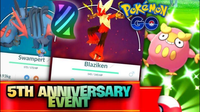 Pokemon GO 5th Anniversary Shiny Darumaka + Meltan // Mega Blaziken, Mega Sceptile + Mega Swampert