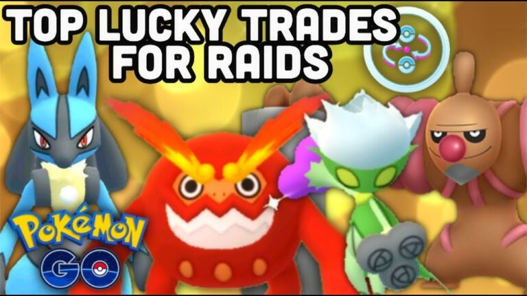 Top must have Lucky trades by type in Pokemon GO | Top Pokémon for Raiding