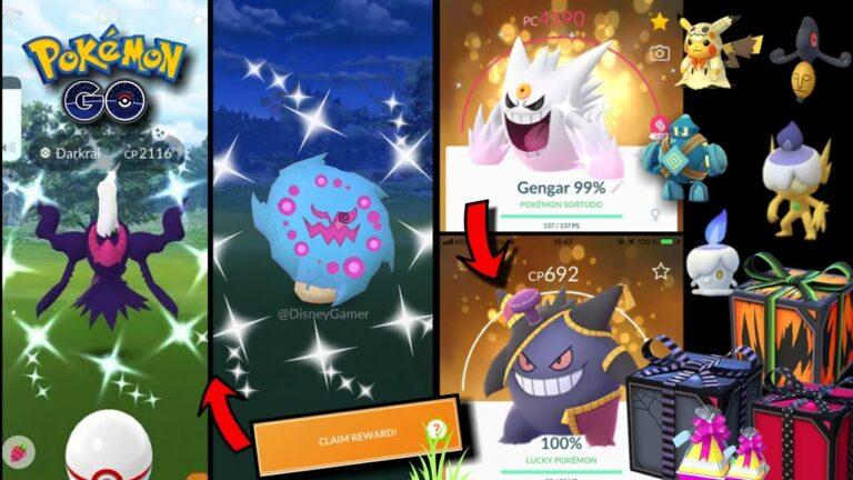 Halloween event pokemon Go 2020   Shiny Darkrai &